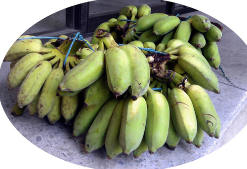 Bananas from local communities support