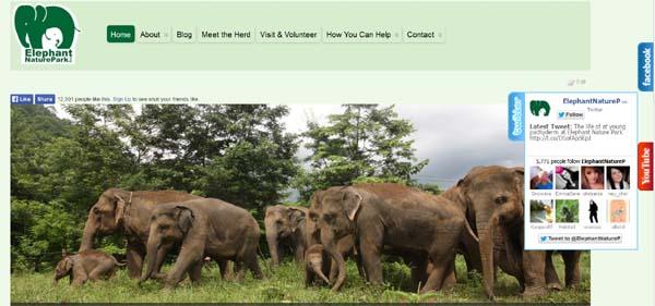 Elephant Nature Park website
